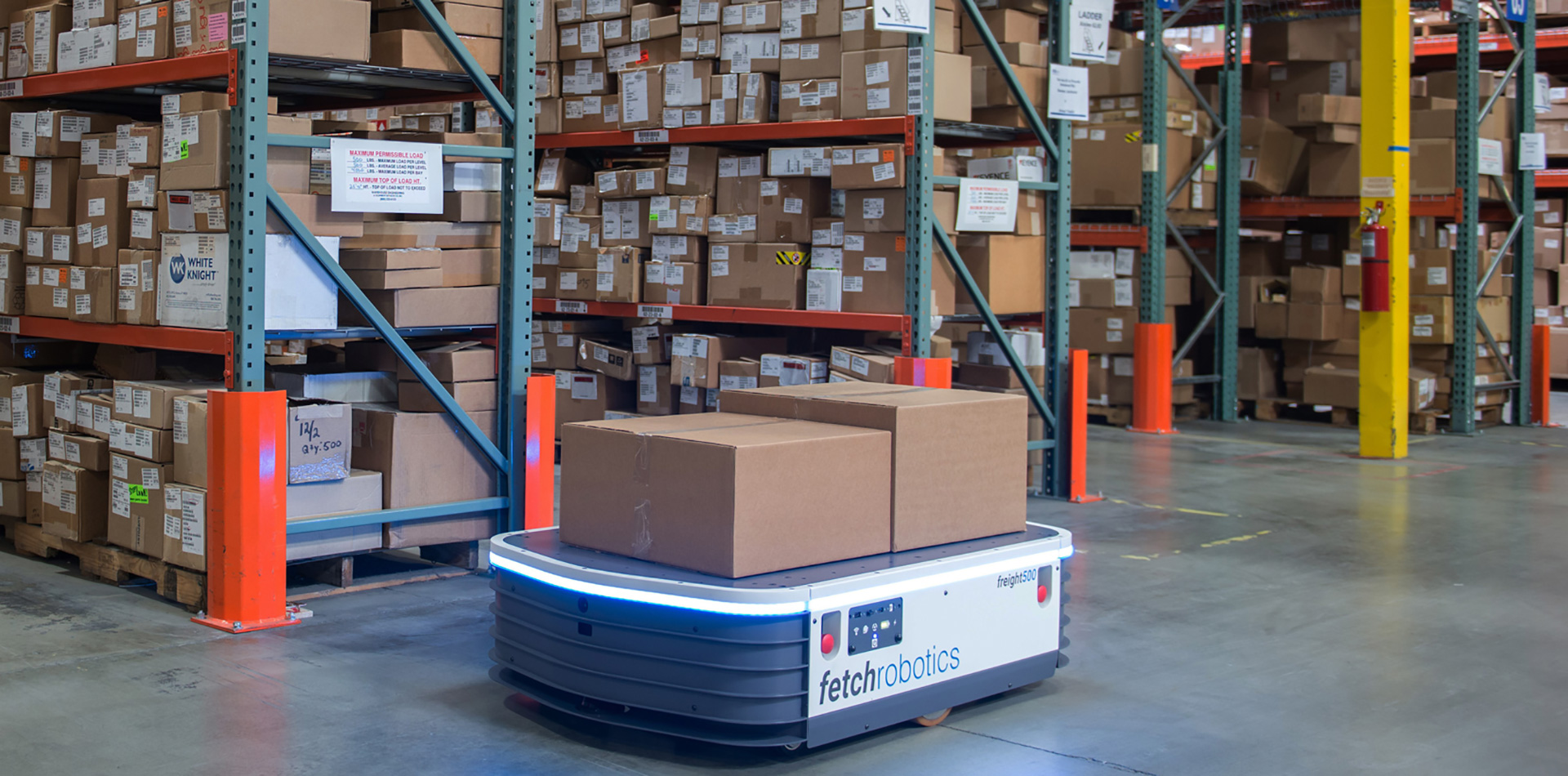 Fetch's Autonomous Warehouse Robots Use SICK TiM571 LiDAR Sensors to Avoid Running into Things.